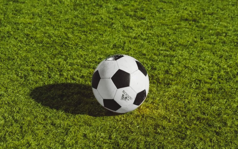 football on pitch