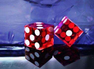 red die on table