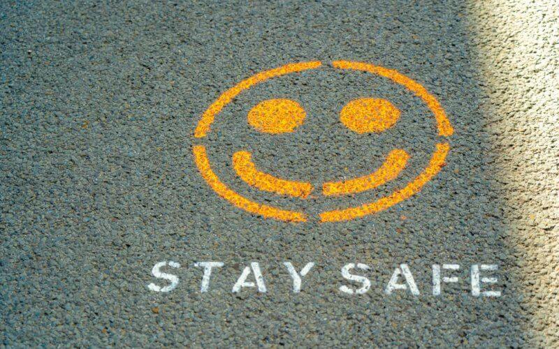 Smiley face on concrete